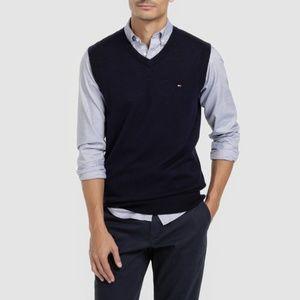 Tommy Hilfiger men's blue knit with V-neck